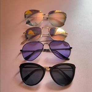 Sunglasses: set of 4